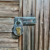 Leading Locksmiths advise a sturdy padlock should be fitted to your garden shed.